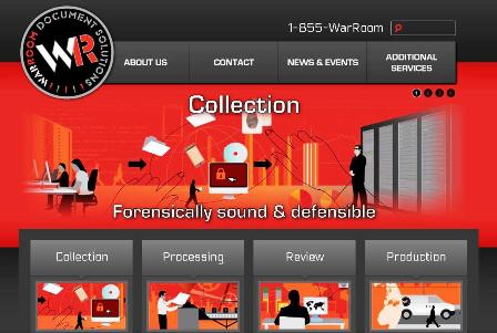 WarRoom Document Solutions website